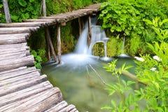 Un des endroits les plus beaux au monde Plitvice - Croatie Photos stock