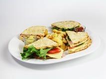 Repas sur le pouce de sandwich à club Photographie stock libre de droits