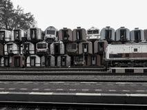 Un des musées pour le transport de chemin de fer en Indonésie est vieux photo libre de droits
