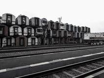 Un des musées pour le transport de chemin de fer en Indonésie est vieux photos libres de droits