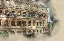 Un des points de repère les plus importants les Di Roma à Rome - Colosseum - de Colisseo illustration stock