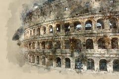 Un des points de repère les plus importants les Di Roma à Rome - Colosseum - de Colisseo illustration libre de droits