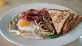 Un desayuno americano típico fotografía de archivo