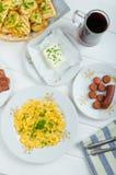 Un desayuno caluroso Fotos de archivo libres de regalías