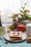 Un desayuno delicioso y caluroso Fotos de archivo libres de regalías