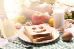 Un desayuno delicioso y caluroso Imagenes de archivo