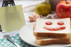 Un desayuno delicioso y caluroso Imagen de archivo libre de regalías