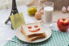 Un desayuno delicioso y caluroso Foto de archivo