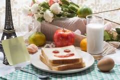 Un desayuno delicioso y caluroso Fotos de archivo