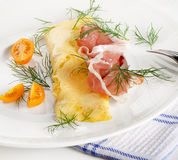 Un desayuno sano. Omelett. Fotos de archivo libres de regalías