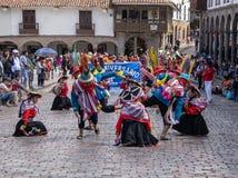 Un desfile en Cusco foto de archivo