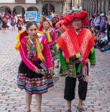 Un desfile en Cusco fotografía de archivo