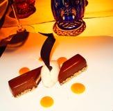 Un dessert che è una delizia a tutti i sences Immagine Stock
