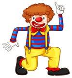 Un dessin coloré d'un clown illustration libre de droits