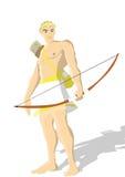 Un dieu grec Apollo illustration de vecteur