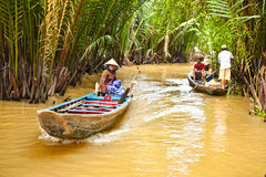 Un destino turístico famoso está en el delta del Mekong, Vietnam Fotos de archivo