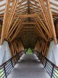Un detalle de bambú del puente fotos de archivo libres de regalías