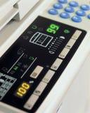 Un detalle de una máquina de la copia Foto de archivo libre de regalías