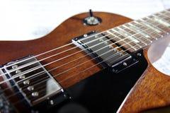 Un detalle de una recolección de la guitarra Fotografía de archivo