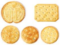 Un detalle de varias galletas Imagenes de archivo