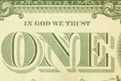 Un detalle del dólar Fotografía de archivo libre de regalías