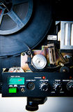Un dettaglio del proiettore di 8mm immagine stock libera da diritti