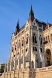 Un dettaglio della costruzione ungherese del Parlamento - Budapest immagini stock
