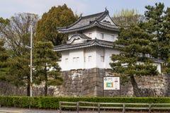 Un dettaglio di bello castello di Nijo a Kyoto, Giappone immagine stock libera da diritti