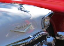 Un dettaglio sparato da un Car Show d'annata Fotografia Stock Libera da Diritti