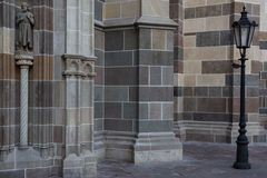 Un dettaglio su una cattedrale, ghiaccio del ¡ di KoÅ, Slovacchia Fotografia Stock Libera da Diritti