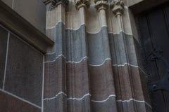 Un dettaglio su una cattedrale, ghiaccio del ¡ di KoÅ, Slovacchia fotografia stock