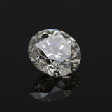 Un diamant rond de carat. images stock