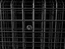 Un diamante detrás de barras de metal fotografía de archivo libre de regalías
