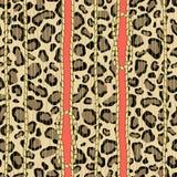 Un dibujo animal de una piel del leopardo con las cuerdas anudadas de oro libre illustration