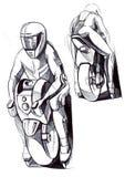 Un dibujo de estudio de un vehículo compacto basado en osmo rueda ilustración del vector