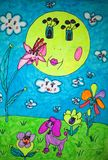 Un dibujo de los childs Imagen de archivo libre de regalías
