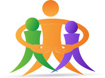 Logotipo de la humanidad Imágenes de archivo libres de regalías