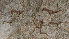 Un dibujo en una cueva animal realizada Fotos de archivo