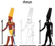 Un dieu égyptien antique - Amun Illustration Libre de Droits