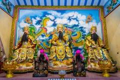Un dieu célèbre de Guan Yu Statue dans la porcelaine Photographie stock