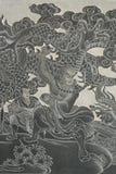 Un dieu chinois. image libre de droits