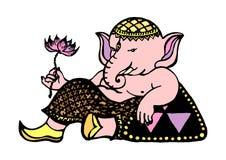 Un dieu de Ganesha de succès et d'art, dessin d'éléphant, dirigent tiré par la main Photo libre de droits