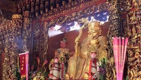 Un dieu de terre dans le temple de la terre Photographie stock libre de droits