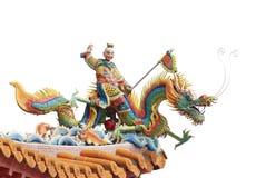 Un dieu et dragon chinois. image stock