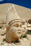 Un dieu monumental se dirige sur le support Nemrut, Turquie image libre de droits