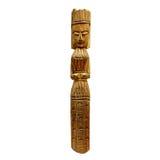 Un dieu païen en bois Image stock