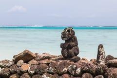 Un dieu polynésien Tiki Images stock