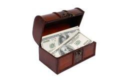 Un dinero en pecho Imagen de archivo