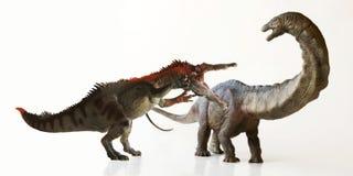 Un dinosaurio alto del Apatosaurus, o lagarto engañoso Foto de archivo libre de regalías