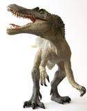 Un dinosaurio de Spinosaurus con las quijadas enormes Foto de archivo
